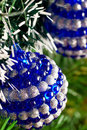 Christmas tree decorated with shiny balls Royalty Free Stock Photos