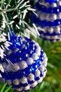 Christmas tree decorated with shiny balls Royalty Free Stock Photos
