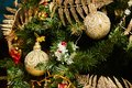 Christmas tree decorated with toys. Holiday concept