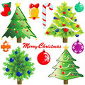 Christmas tree and decoration Stock Photos