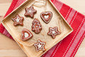 Christmas tree decoration biscuits Royalty Free Stock Photos