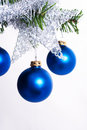 Christmas tree decoration on a fir Stock Photo