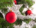 Christmas tree decoration on a fir Royalty Free Stock Photography