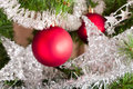 Christmas tree decoration on a fir Royalty Free Stock Photo