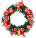 Christmas Tree Decoration garland Royalty Free Stock Photo