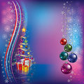 Christmas tree with decoration and gifts Stock Images