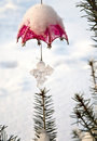 Christmas-tree decoration outdoor Royalty Free Stock Images