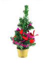 Christmas tree decoration over white Royalty Free Stock Photos
