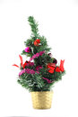 Christmas tree decoration over white Royalty Free Stock Images