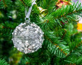 Christmas tree decoration with shiny glare Royalty Free Stock Photo