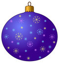 Christmas-tree decoration with snowflakes Royalty Free Stock Photography