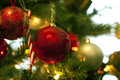 Christmas tree decorations Royalty Free Stock Images