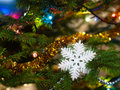 Christmas tree decorations Stock Image