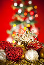 Christmas tree and decorations Stock Photography
