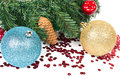 Christmas tree with decorations Stock Photo