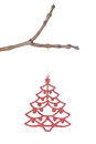 Christmas tree decorations on a branch. Royalty Free Stock Image