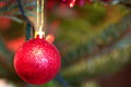 Christmas tree decorations close-up Royalty Free Stock Photo