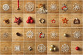Christmas tree decorations collage Royalty Free Stock Photo