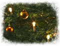 Christmas tree decorations framed in white Royalty Free Stock Photography