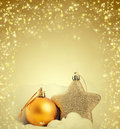 Christmas tree decorations and holiday lights Royalty Free Stock Photo
