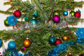 Christmas-tree decorations. 2015 new year Royalty Free Stock Photo