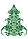 Christmas tree decorative illustration for design available in vector eps format Stock Photos