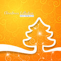 Christmas tree on decorative sunny background this is file of eps format Stock Photos
