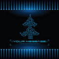 Christmas tree design. Technology background. Royalty Free Stock Images