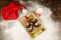 Christmas tree dessert sweet and fruity for kids Royalty Free Stock Images