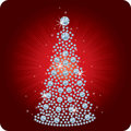 Christmas Tree Diamond / vector Royalty Free Stock Image