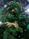 Christmas tree in different toys Royalty Free Stock Photo