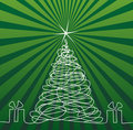 Christmas Tree Drawing Royalty Free Stock Photography