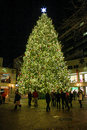 Christmas tree at faneuil hall boston ma beautiful decorates historic Royalty Free Stock Image