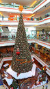 Christmas tree festival walk mall hong kong huge at the shopping at kowloon tong Royalty Free Stock Photo