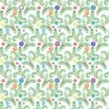 Christmas tree. Fir pattern. Seamless pattern. Christmas decoration. Watercolor illustration.