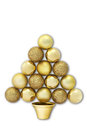 Christmas tree formed by balls on white background Stock Photos