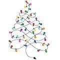 Christmas tree garland lights string of background on white Royalty Free Stock Photos