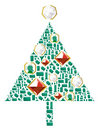 Christmas tree of gems Royalty Free Stock Photography