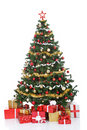 Christmas tree with gift boxes Stock Photography
