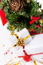 Christmas tree with gifts Royalty Free Stock Images
