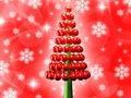 Christmas Tree Glossy Red Baub...