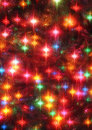 Christmas tree glowing stars closeup Royalty Free Stock Photo