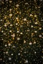 Christmas tree with golden lights and balls background Royalty Free Stock Photo