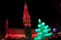 Christmas tree in Grand Place, Brussels Royalty Free Stock Photography