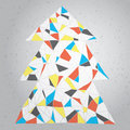 Christmas tree greeting card grunge abstract illustration christmas tree modernistic manner gradient background mondrian cmyk Royalty Free Stock Photography