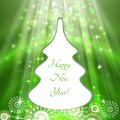 Christmas tree greeting card light vector background Stock Photography