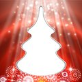 Christmas tree greeting card light vector background Royalty Free Stock Images