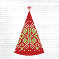 Christmas tree hand draw Royalty Free Stock Photography