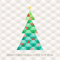 Christmas tree hexagon pattern abstract background Royalty Free Stock Image