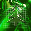 Christmas Tree Icon Stock Photos